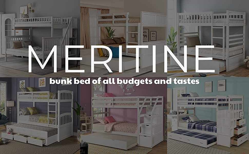 3 bed bunk bed for kids bunk bed with storage and trundle