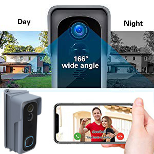 wide angle smart wifi doorbell  Adjustable  Angle Mount