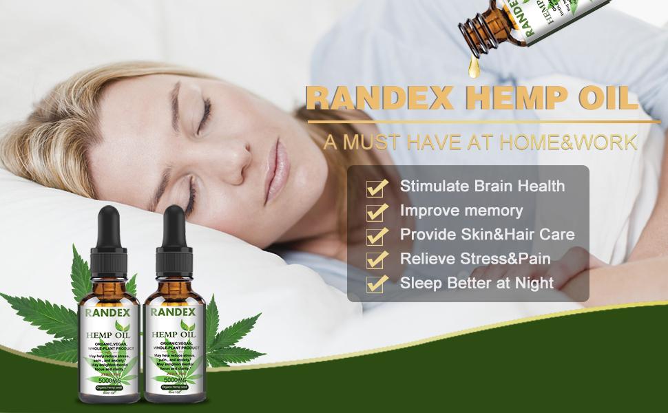Randex 5000mg Organic Hemp Oil