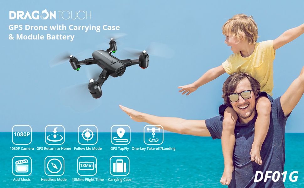 Dragon Touch DF01G Foldable GPS Drone - Main features