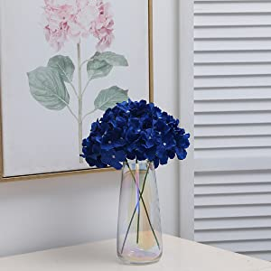 fake navy blue hydrangea flowers for birthday table decoration