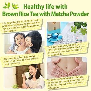 Genmaicha gren tea brown rice tea japan tea Less caffeine Low caffeine decafe green tea loose leaf