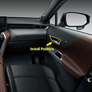 Beautost Fit for Toyota VENZA 2021 Interior Door Handle Bowl Cover Trims