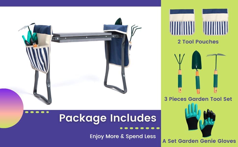 garden kneeler Kneeling pad handicap gardening tools garden folding chair pad garden bench kneeling