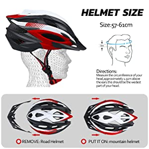 Yalawa Cycling Helmet for Men Women Rear Safety Light CPSC Certified Adjustable Size Lightweight for Adult Youth Teen Mountain Road Biking