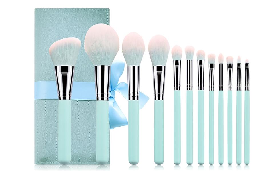 Carry 1 x 12 makeup brush makeup pouch