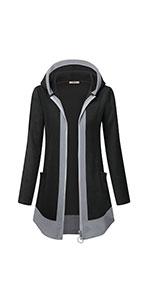 Women's Full-Zip Soft Fleece Hooded Jacket with Pocket