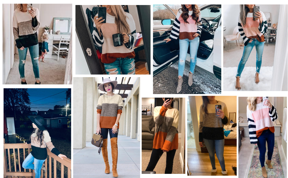 womens crewneck sweaters