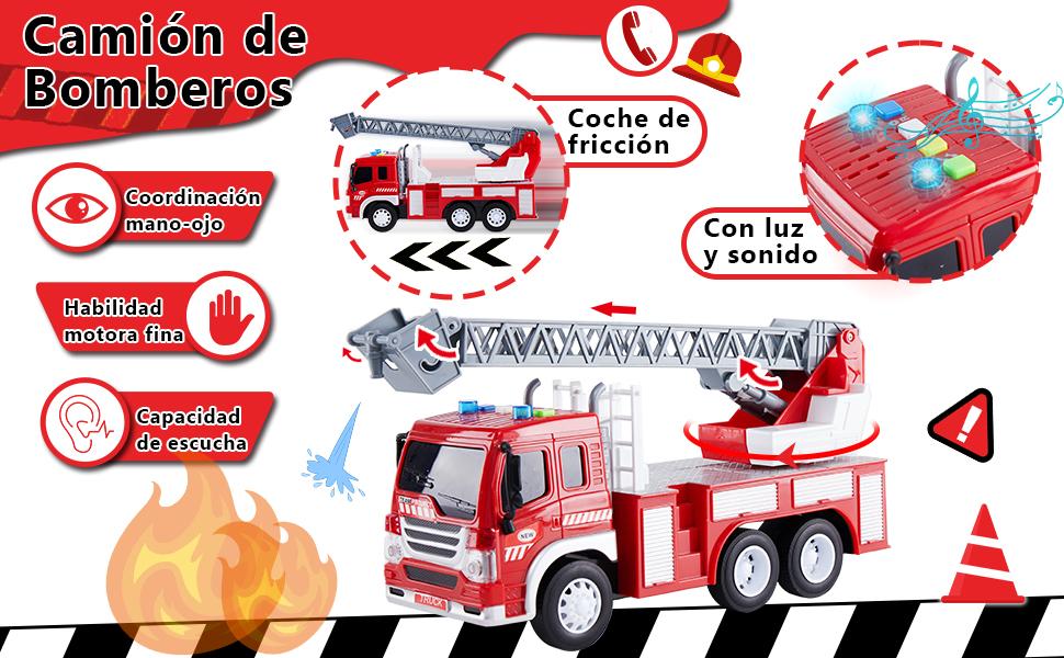 HERSITY Camión de Bomberos con Luces y Sonidos Coches de ...