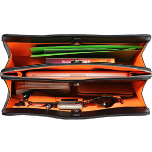 Leather laptop bag 17 inch