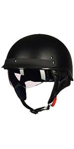 Motorcycle Half Helmet Sun Visor Quick Release Buckle DOT Half Face Cycling Helmets for Men Women