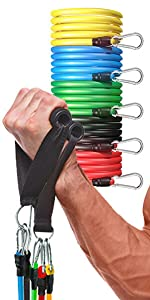 Perfotek Resistance Bands Set with Handles for Exercise
