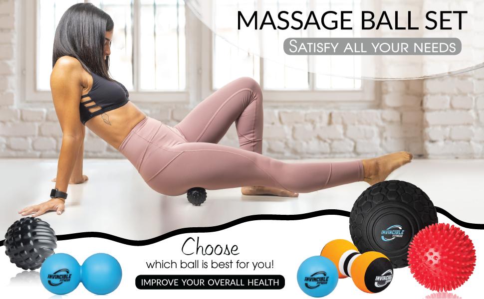 invincible fitness massage ball set