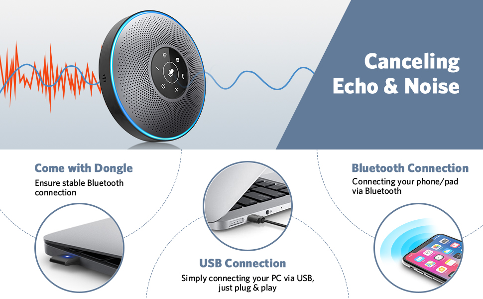eMeet M2 Bluetooth Speakerphone