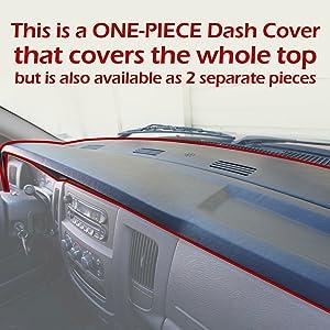 one piece dodge ram dash cover