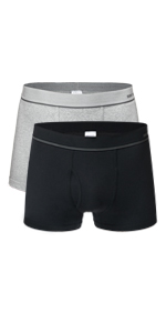 Banunos 2 pack mens trunks with opening fly