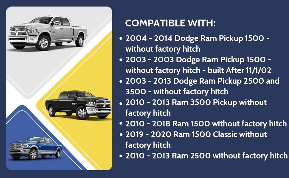 GOTOTOP Trailer Hook,Trailer Tow Hook,Trailer Tow Receiver Hitch Kit Trailer Hitch Receiver Compatible for Dodge RAM1500 2003-2018