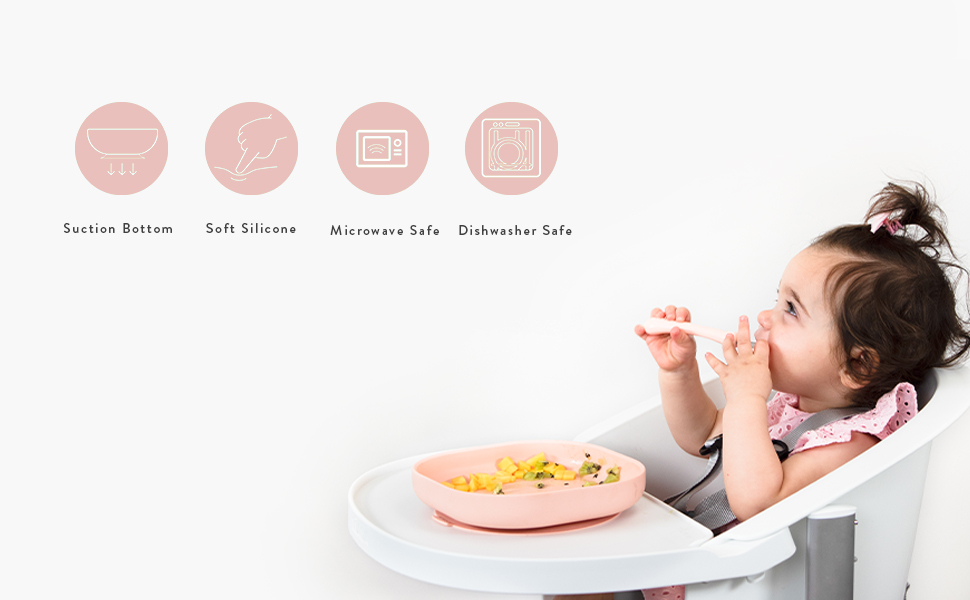 beaba baeba babycook silicone dishware meal set silicone bowl plate cup spoon toddler baby babies