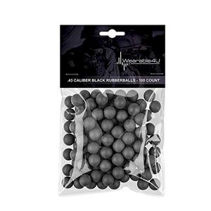 Pack of 100 Reusable Black Rubber Balls