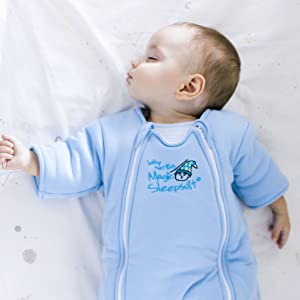 Magic Sleepsuit Blue Small Cotton