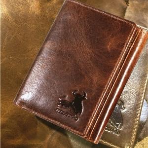 mens leather bifold wallet rfid blocking quality