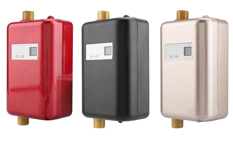 HGY 220V 3000W Mini el/éctrico sin Tanque Calentador de Agua Caliente instant/ánea Ba/ño Cocina Lavado Blanco de la UE