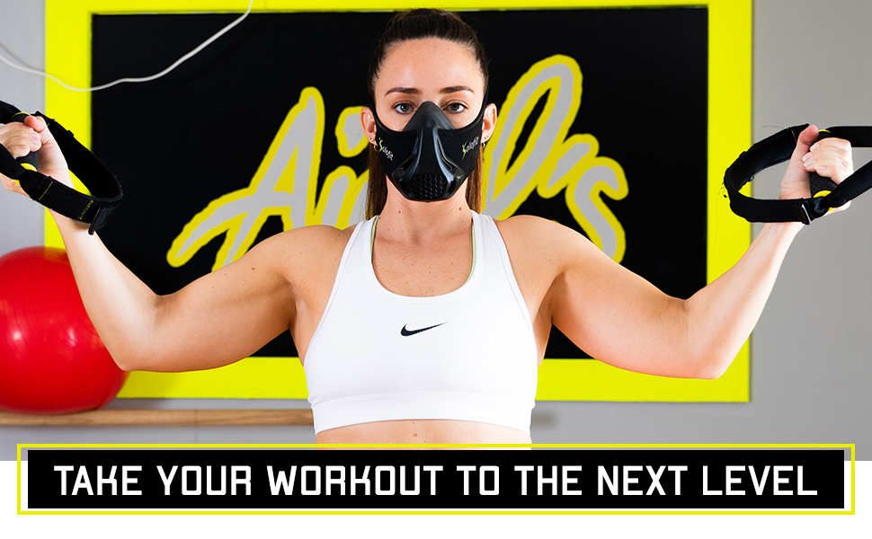Training mask with four resistance levels.