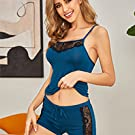 Snuggle up with your sweetie in this sexy pajamas set. Women's lace pajama shorts set matching cu