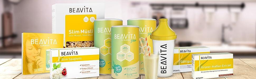 BEAVITA Vitalkost sabor vainilla | 3x 500g | 218 kcal por porción | Libre de gluten y conservantes | Suplemento con proteína, vitaminas y minerales | ...
