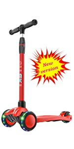 allek kids scooter 3 wheel lightup any height adjustable basic advanced strong deck B03