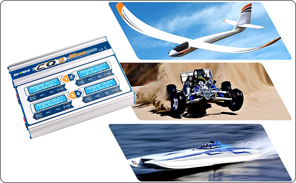 lipo lihv life nimh nicd pb rc charger for rc airplane boat car truck