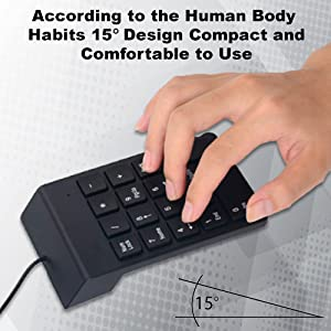 usb number pad slim numeric pad