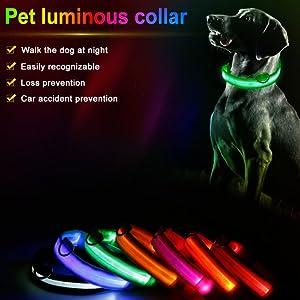 LED LIGHT UP DOG COLLARS