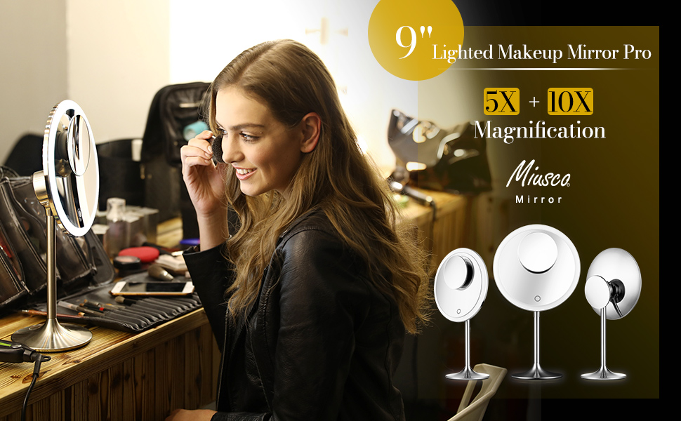 "9"" Lighted Makeup Mirror"