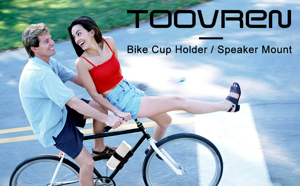 Bike Water Bottle Drink Cage Mount Holder Bluetooth Speaker Mount Fixed Strap