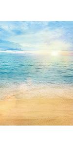 Morning Beach Backdrop