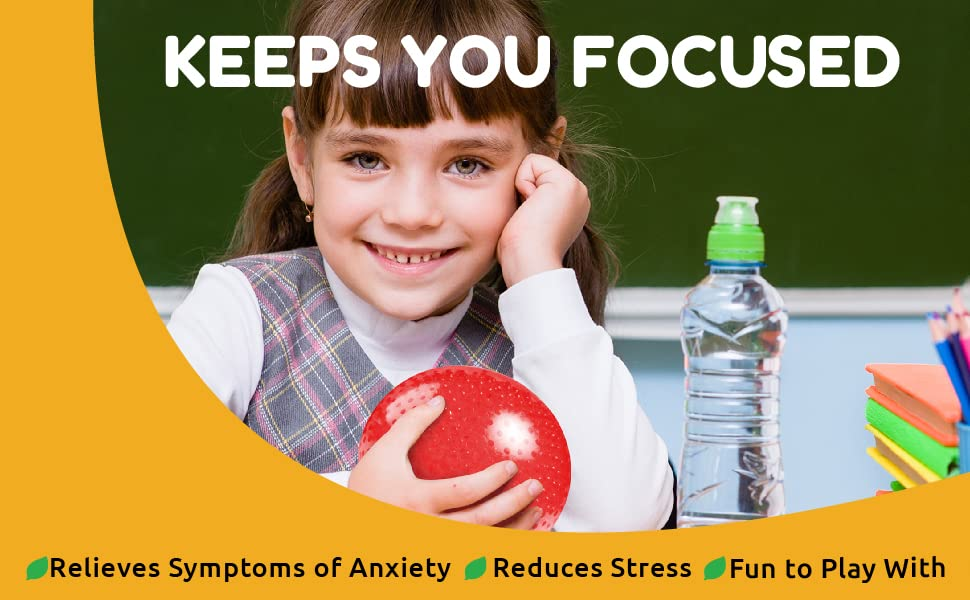 Keeps you Focused. Relieves symptoms of anxiety, reduces stress and fun to play with!