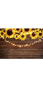 Sunflower Wood Backdrop