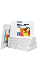"5x7"" canvas panels 24 pack"