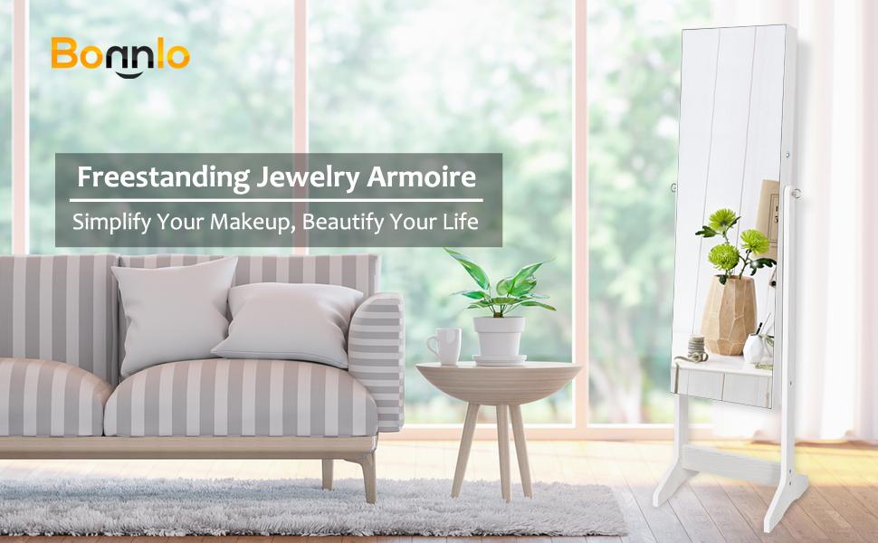 A+ - Bonnlo jewelry armoire cabinet organizer