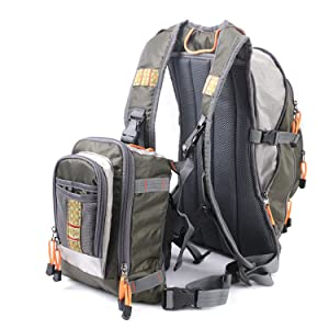backpack with chest pack