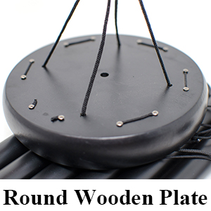 Round wooden plate wind chimes