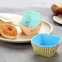 silicone cupcake baking pan