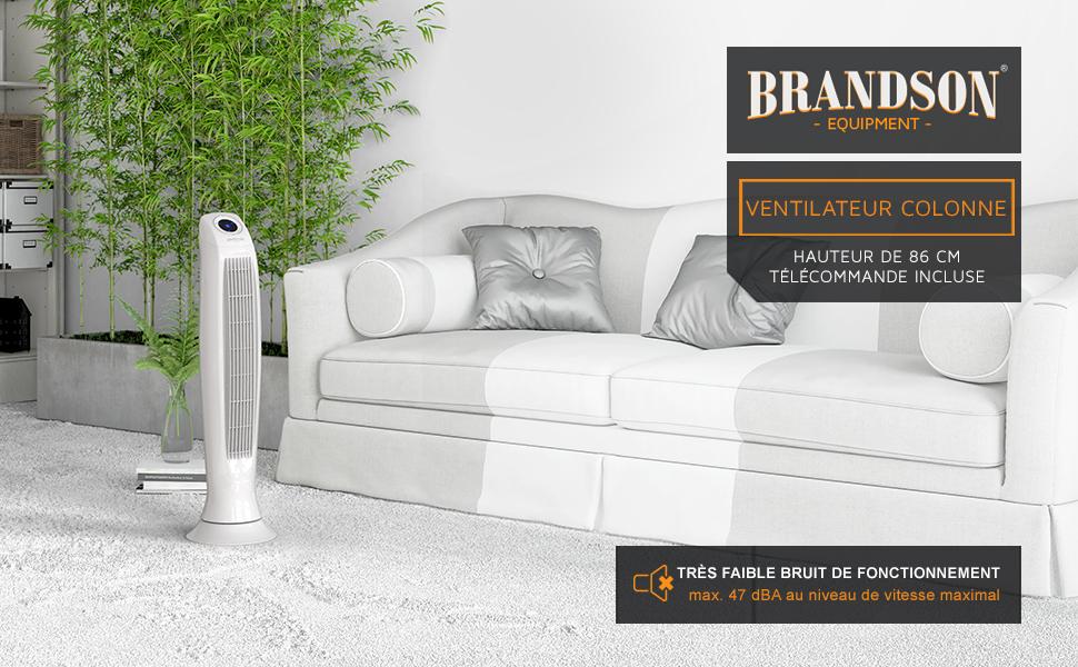 303053 ventilateur colonne 86 cm Blanc