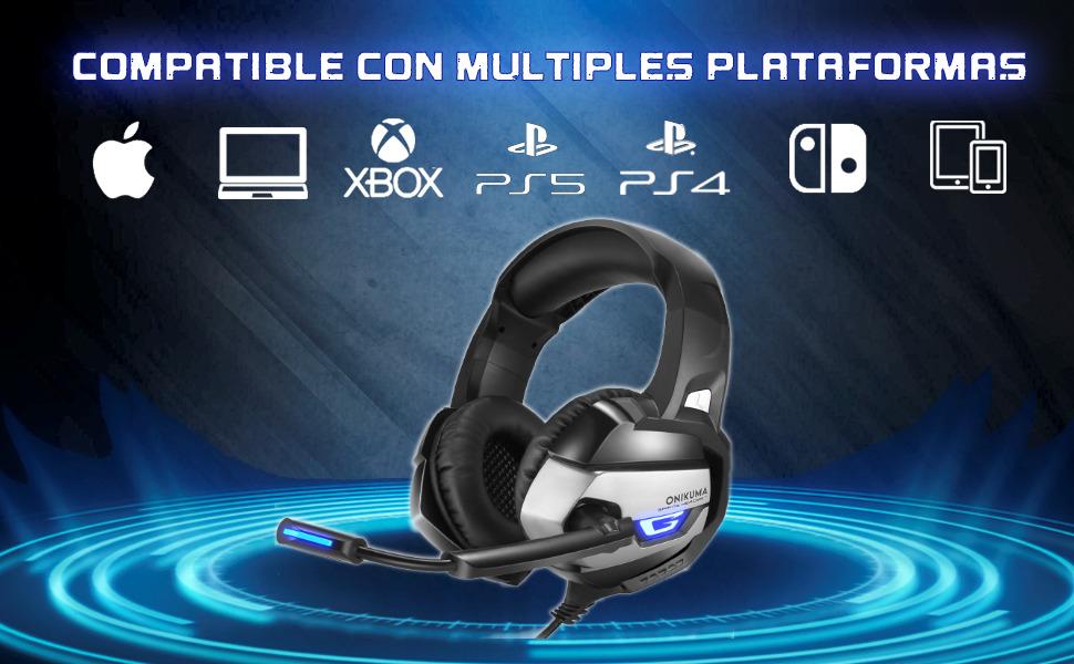 onikuma k5, cascos gaming onikuma, cascos gaming ps5, cascos gaming xbox series x, series s, pc