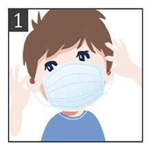 Wash your hands properly before wearing a mask