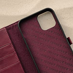 TORRO Purple Leather Stand Case for Apple iPhone 12 Pro Max