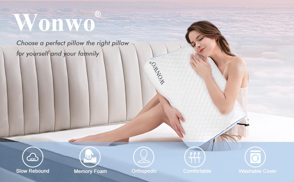 memory foam pillow for side back