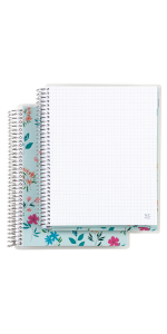 """Coiled Notebook-  8""""x11"""" Graph"""
