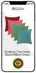 Comfy Corduroy Corn Striped Pillow Covers
